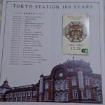 東京駅100(+1)周年記念Suicaが届いた