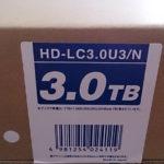 BUFFALO 3TB 外付けHDD HD-LC3.0U3/N