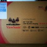 viewsonic VX2363Smhlを購入 ~開封~