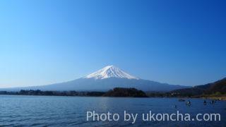 関東近辺を花見&観光_9 大石公園から富士山を眺める