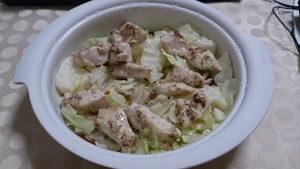 シリコンスチーマーで蒸し鶏(ささみ)